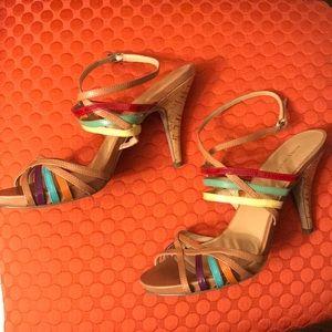 Nine West multi color strappy sandal